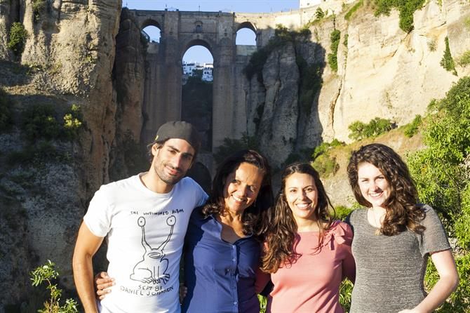 Team Spain Holiday filming at Puente Nuevo with Ronda Tourism office