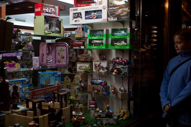 Traditional toy shop in Palma