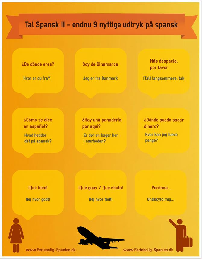 Spanish words infograph