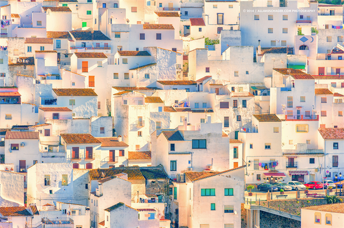 White-washed houses in Casares in Malaga