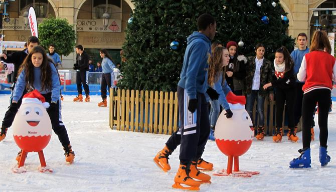 Ice-skating in Alicante for Christmas
