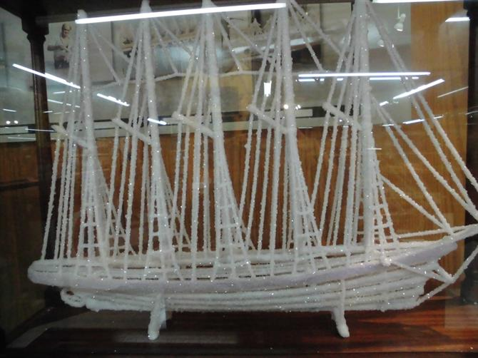 Ship model made from salt,Torrevieja