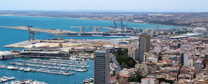 View of Alicante from the castle