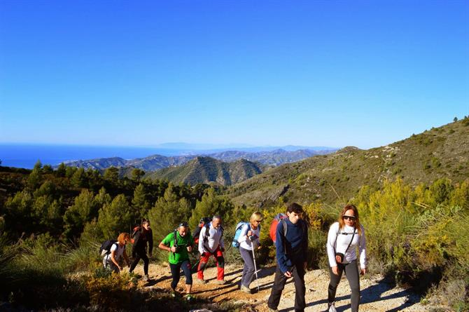Hiking up El Cielo Nerja
