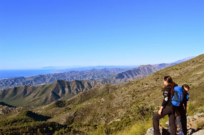Hiking up El Cielo, Nerja