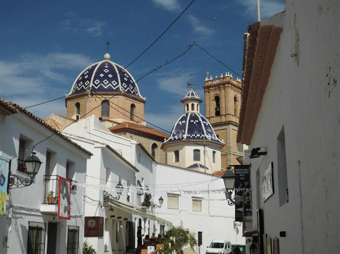 Blue tiled roofs,Altea