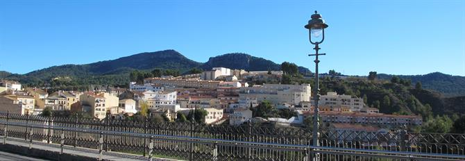 View over Alcoy from the bridge