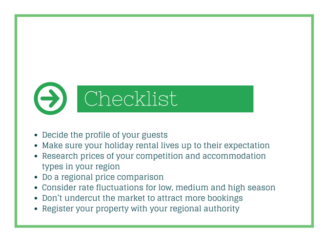 holiday rental checklist