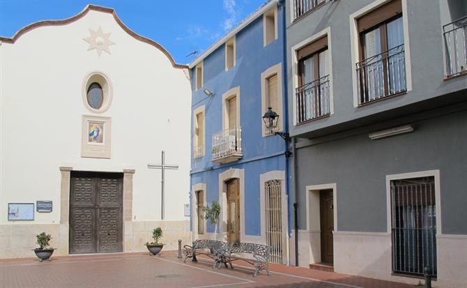 Traditional square in Parcent, Jalon Valley, Alicante