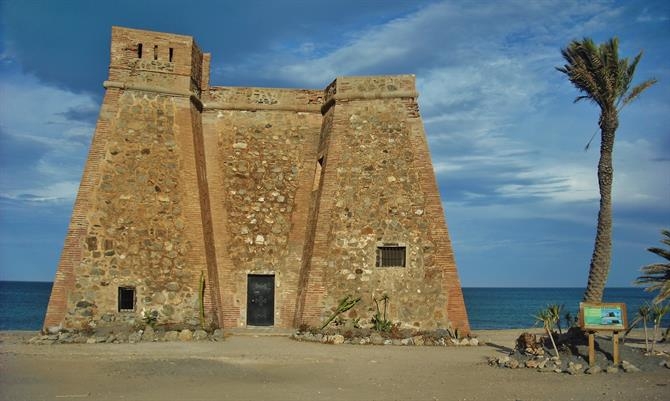 Castillo Macenas on the beach of Mojacar, Almeria, Andalusia