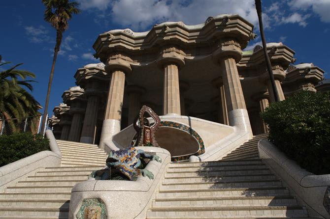 Parc Güell in Barcelona, Catalonia (Spain)