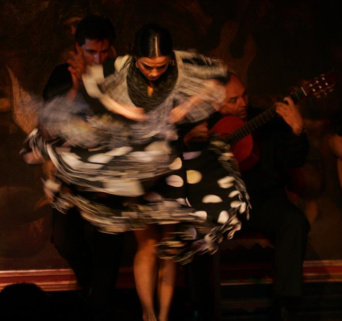 Flamenco in Corral de la Morería, Madrid