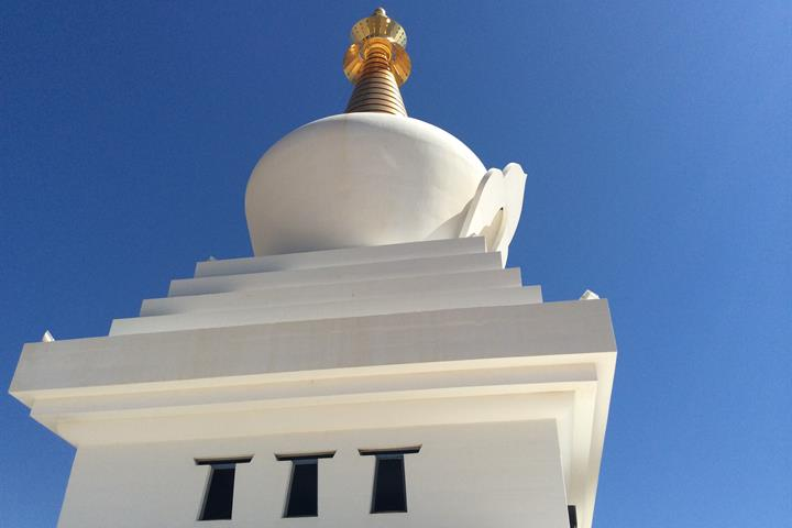 The Buddhist Enlightment Stupa in Benalmádena