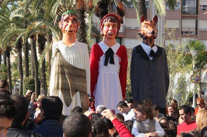 Immaculate Conception festival with giants and big heads in Torrevieja