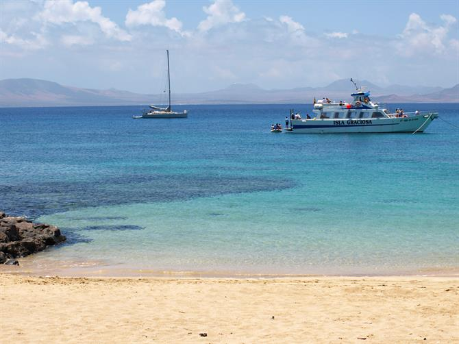 Arriving at Beach, La Graciosa, Lanzarote, Canary Islands