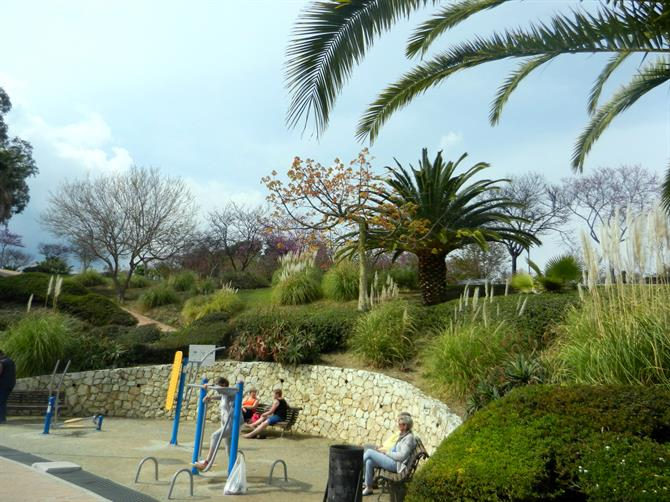 Workout machines around the lake, Parque de la Paloma, Benalmadena