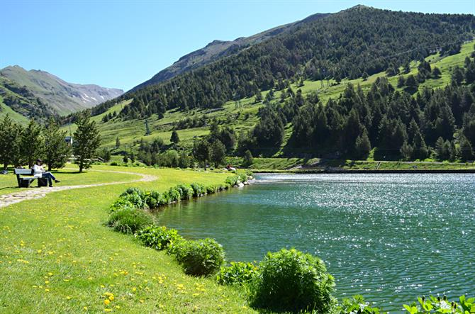 Lake at Vall de Nuria, Pyrenees, Catalonia, Spain
