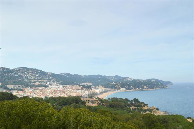 Lloret de Mar, view from the Castillo San Joan