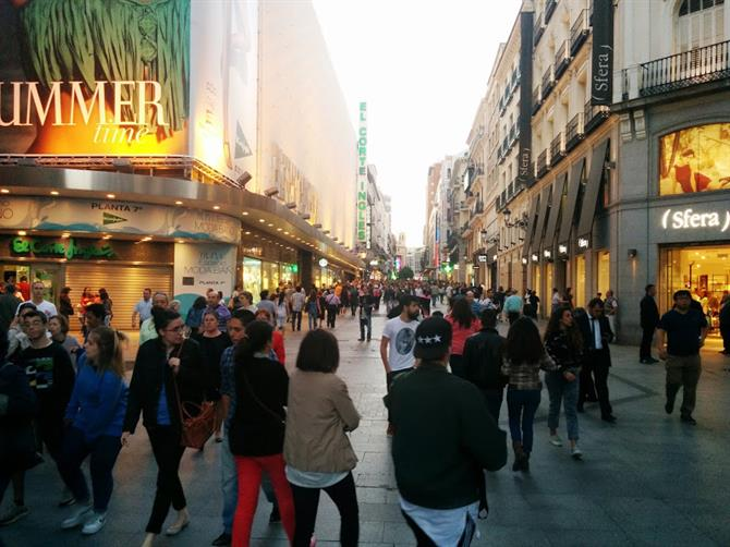 Evening in Madrid City Center