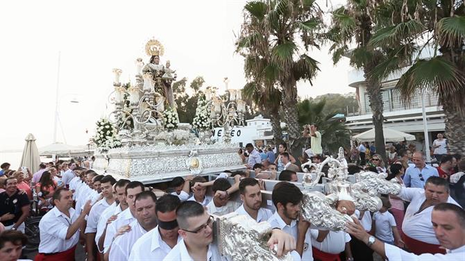 Carrying the Virgen del Carmen, Malaga