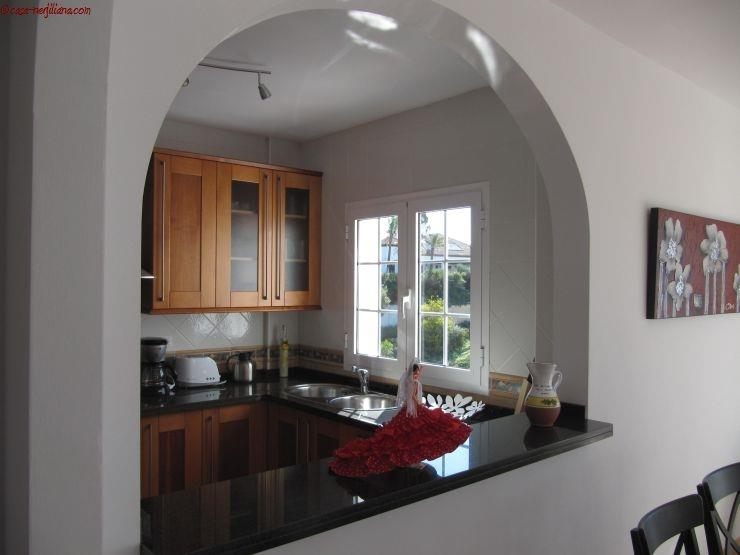 The kitchen, seen from the living/dining room