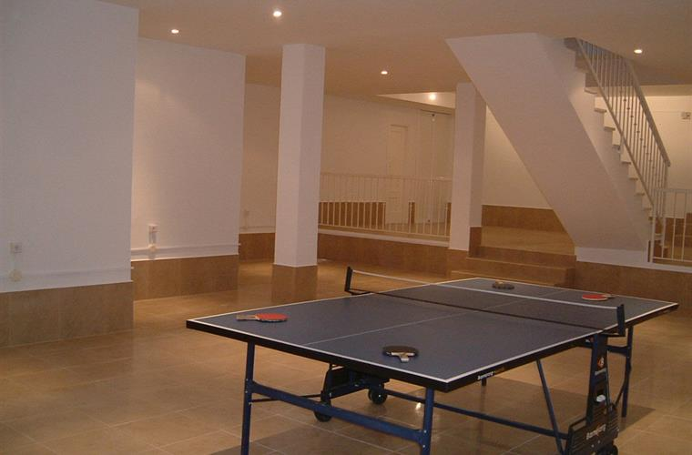 Basement table tennis table