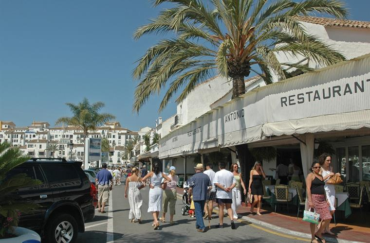 Spot the celebrities in Marina Puerto Banus restaurants & shops