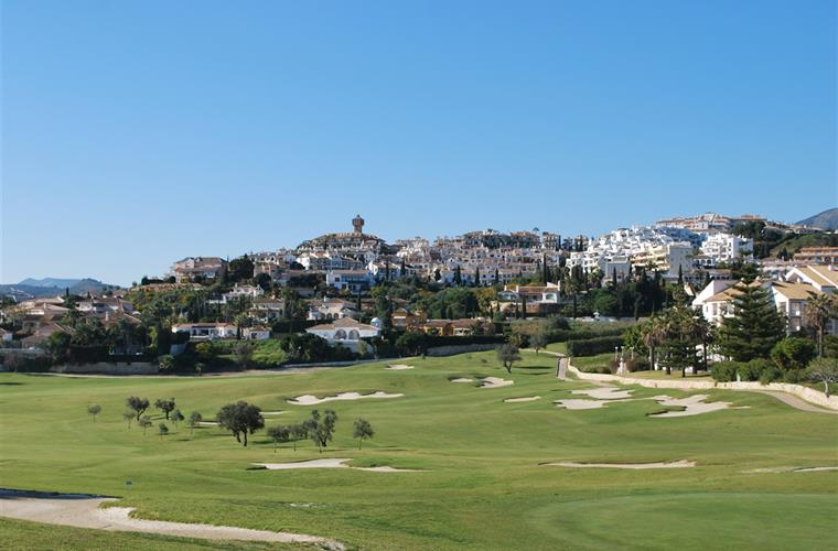 Mijas Golf with the view to Puebla Aida