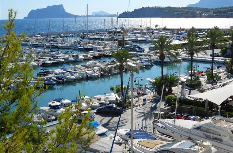 View accross Moraira harbour to Calpe