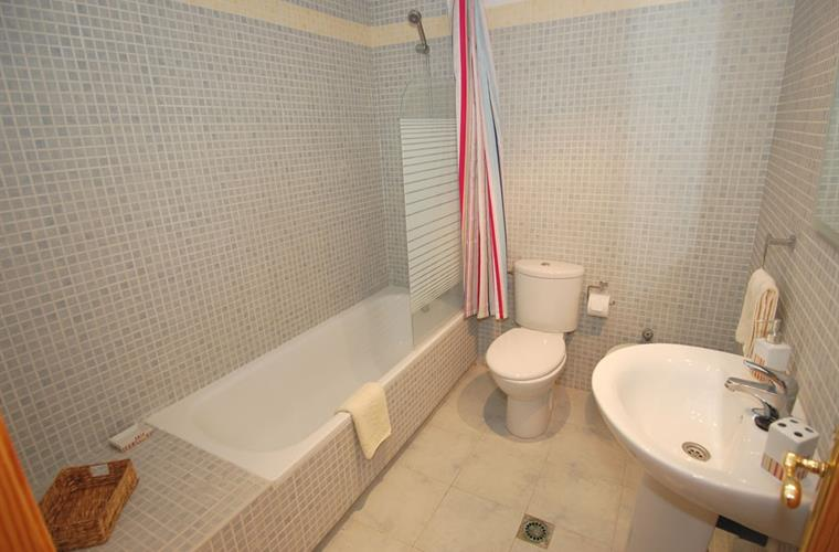 Large second bathroom.