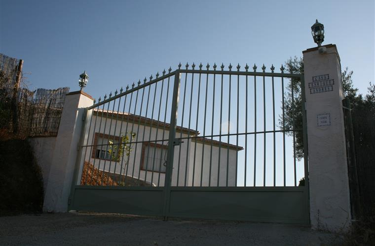 The gate to enter the property.