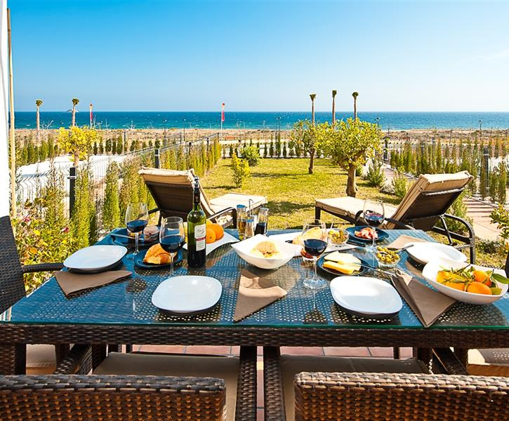 Enjoy breakfast from the ocean front patio