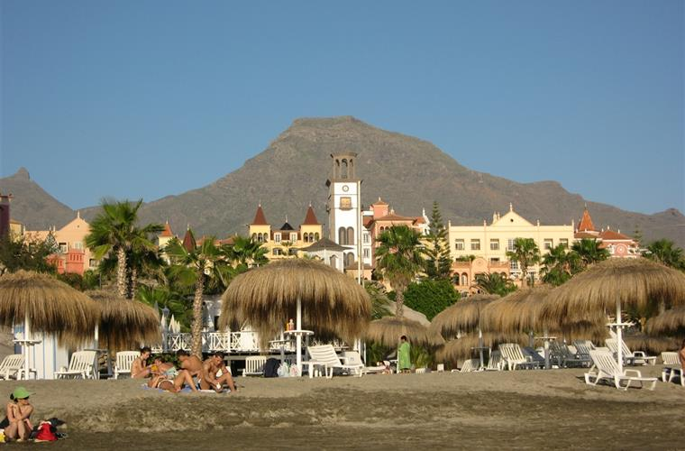 Playa del Duque - the holiday home is situated behind