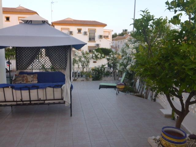 our private, gated   terrace  and   gazebo