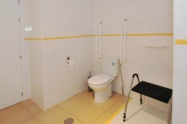 Handicap friendly bathroom and toilet