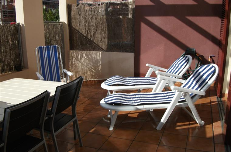 Big terrasse with chairs