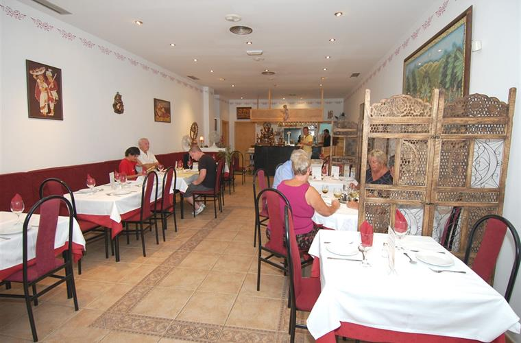 Genuine Indian cuisine at the Nirvana restaurant.