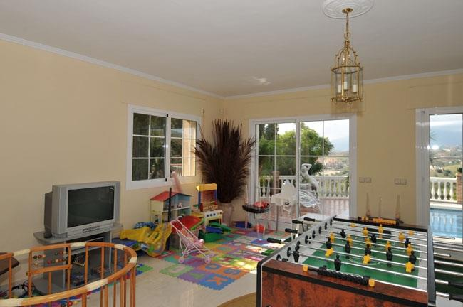 Children play area in the games room