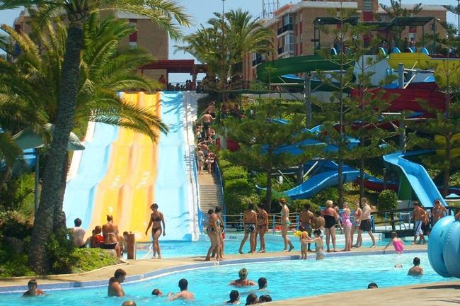 Water park Aqualand in Mijas Costa at 6 Kilometer from the villa
