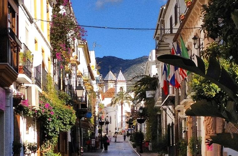 Old Town Marbella - a 5 min taxi ride from the apartment.