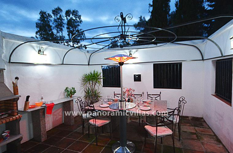 Superb new sheltered BBQ terrace with patio heater