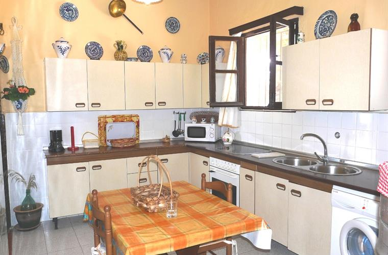 The spacious, fully-equipped kitchen