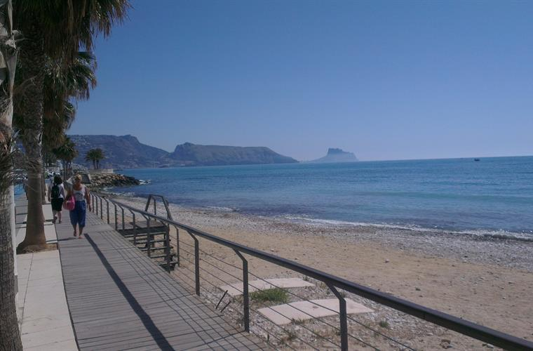 Altea promenade towards Penon de Ifach Calpe