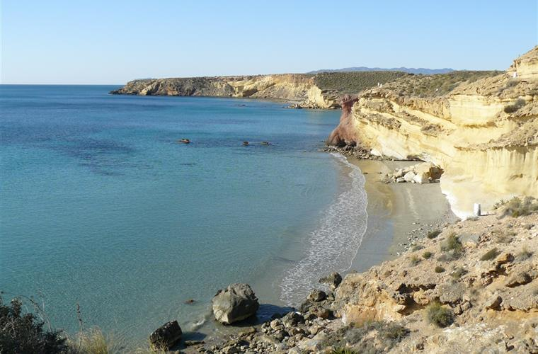 Nudist beach near Bolnuevo