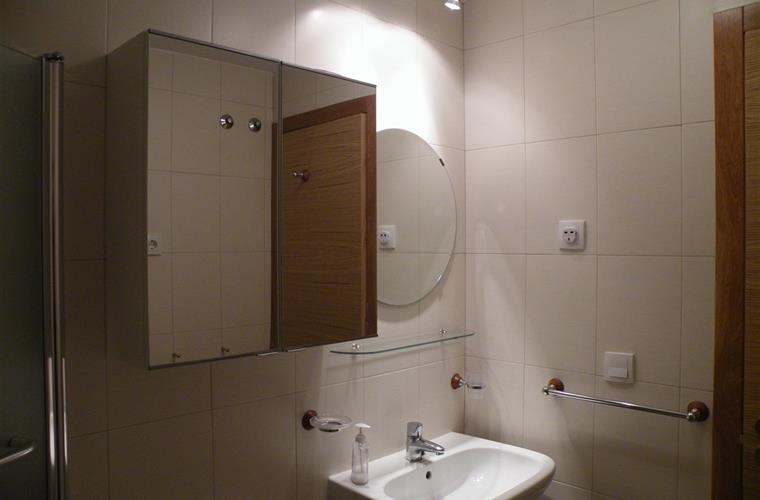 The Bathroom which contains bath, powerful shower & ample storage