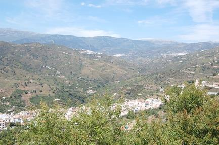Neighbouring white villages from main terrace.
