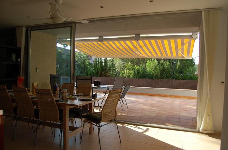 Dining room and pool terrace