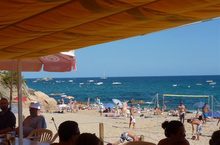 View from beach restaurant