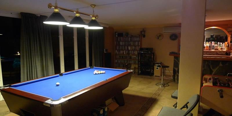 pool table in the games room, well it's your break.