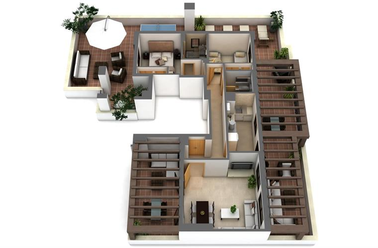 3D illustration of apartment